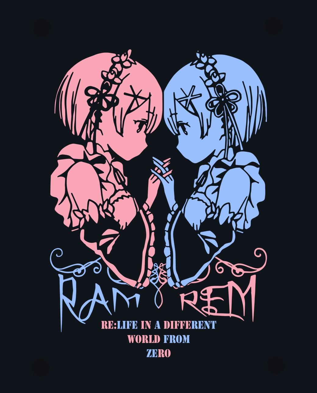 CAMISETA Rem y Ram Re:Zero