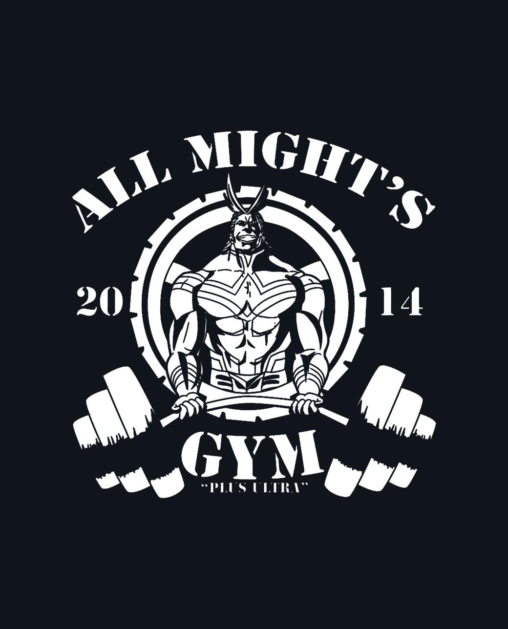 CAMISETA all might gym