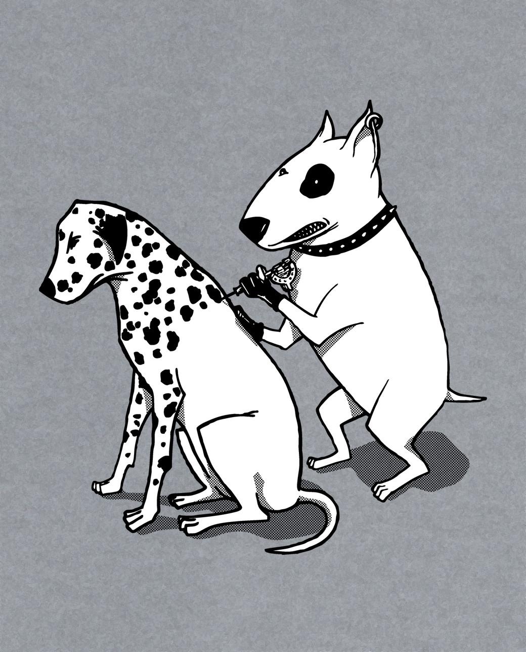 perro piercing tatto