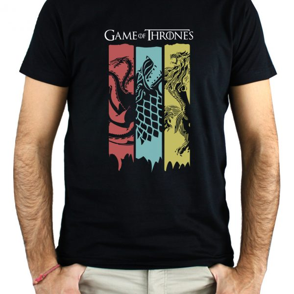 CAMISETA BANDERAS, GAME OF THRONES